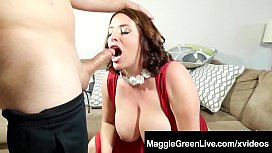 Busty Maggie Green Blows...