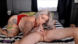 Inked Blonde PAWG Sucks and Gets FUCKED