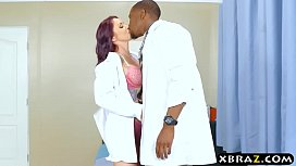 Black doctor gets lucky...