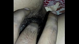 Indian wet hairy touching pussy