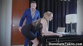 Teen Secretary Spanked and...