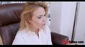 Therapist Mom makes bro and sis fuck and joins them
