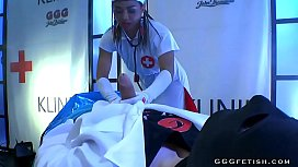 Ebony nurse mimi in gangbang actions with big dicks