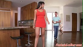 Bigass beauty footworshiped and...