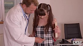 Nurse Tina Kay dominates defiant schoolgirl Luna Rival with Doc at clinic xxx video