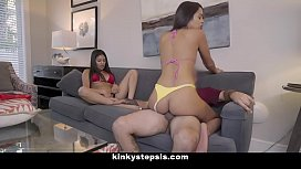 Kinky Sis (Serena Santos) And Stepbro Have Threesome With Hot Friend (Vienna Black)