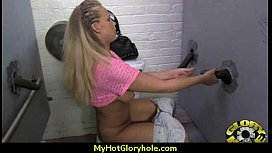 Interracial - White Lady Confesses Her Sins at Gloryhole 14