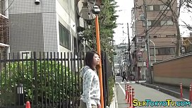 Japanese teen in public...