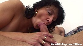 Stepson Restrained By Brunette...