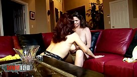 Two mature sluts playing with dildos