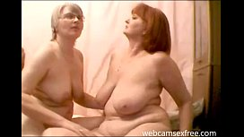 Real mature lesbian couple on cam