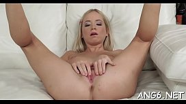 Dink riding together with blowjob by charming first timer Triada