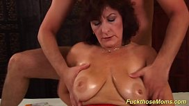 Busty hairy mom brutal...