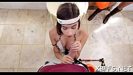 Legal age teenager whores ride pecker in turns