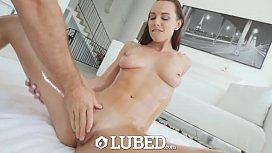 LUBED Messy lubed up fuck and facial by torpedo dick with Aidra Fox