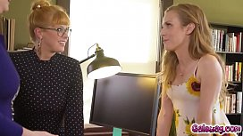 Ladies Penny Pax Karla Kush and Jay Taylor cannot resist each others charms and start eating out each others pussies
