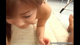 Japenese redhead with perky tits gets