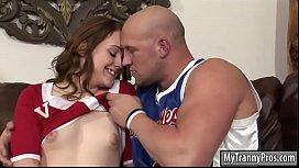 Cheerleader shemale gets her...