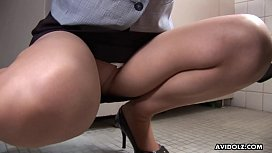 Hungry Asian office chick...