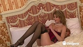 Sexy Cougar Spreads Her Legs &amp_ Opens Her Perfect Pussy