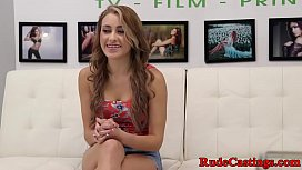 Gorgeous teen fucked at...