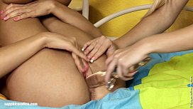Strapon Satisfaction by Sapphic Erotica - sensual lesbian sex scene with Dolly a