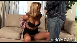 Mommy shows off banging...
