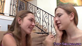 Teen stepsisters eat out...