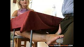 Mature blond slut rubbing...