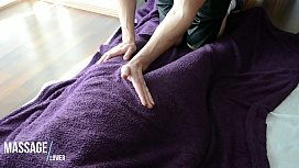 Sensual Gently Massage - Soft Technique - Hairy blanket