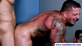 Hungry muscle pounded from...