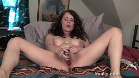 Busty Brunette Alex Toying...