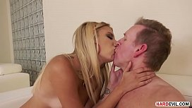 Needy Blonde Sophia Grace rides a mature thick white dong