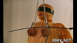 Stunning scenes of harsh bdsm for a busty amateur playgirl