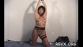 Mature hottie gets bounded powerful