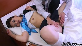 Japanese Slut Gets The Cum In Her Pussy