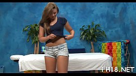 Teen with a moist booty gets nailed during a massage