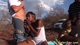 Extreme hot outdoor african...