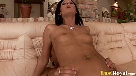 Hot Brunette Punished With...