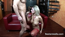 Wet oily fat boobs milf taking the big cock in mouth deep then fuck & big facial