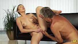 DADDY4K. Old and young lovers practice hot sex in several positions