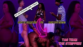 """""""Get Her Loose, She Be Down to FUCK"""" - 2 Guys Plot to Fuck Stripper Imani Seduction - CUMSHOT FACIAL THREESOME"""