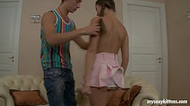 Pigtailed teen Liza gets...