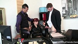 Mature office bitch enjoys...