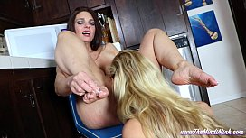 Mindi Mink and Cherie DeVille Step-Sister Foot and Food Fetish