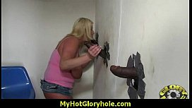Gloryhole With A Nasty Wild White Girl Interracial 22