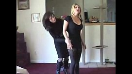 Two girls stripped by...