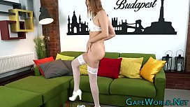 Babes ass gapes for...