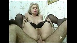 Blonde Lady In Nylons...