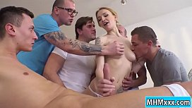 Blonde Belle Claire getting...